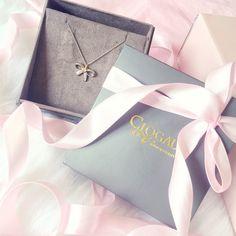 Clogau Mococo Jewellery   Diamond Tree Of Life Bow Necklace