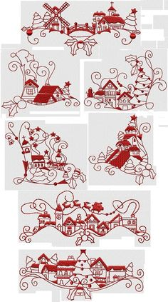 Christmas Eve Town by Julia's Needle Designs
