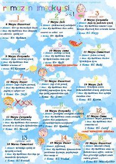 Ramadan Activities, Learn Turkish, Ramadan Mubarak, Islam, Holiday Traditions, Kids Learning, Education, Istanbul, Life