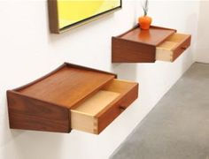 Floating nightstand tables... with a little design tweak - these would be perfect!!