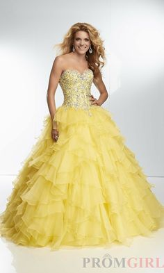Collection Yellow Puffy Prom Dresses Pictures - Brida