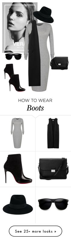"""""""Untitled #304"""" by jovana-p-com on Polyvore featuring Maison Michel, Non, Christian Louboutin and Aspinal of London"""