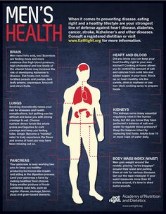 Healthy food choices for MEN to prevent disease and provoke a healthy lifestyle!