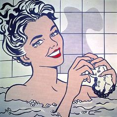 Woman in bath - Roy Lichtenstein