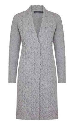Irelandseye dames vest Horseshoe - Light Grey