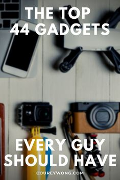 44 Amazing Tech Gifts For Guys | Are you looking for the perfect gift for a guy in your life? Is he a tech geek or are you trying to introduce him to some cool tech of this century? Maybe you just need some gift ideas. Whatever the occasion may be, we got you covered with our comprehensive list of 44 cool tech ideas that will make any guy say wow. No man is the same so check out these gift ideas and find the perfect fit with these tech gadgets. | tech for men | gifts for dad #technology Technology Design, Cool Technology, Technology Gadgets, Tech Gifts For Dad, Cool Tech Gifts, Mens Gadgets, Cool Tech Gadgets, Tech Hacks, New Inventions