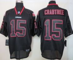 Nike San Francisco 49ers #15 Michael Crabtree Lights Out Black Elite Jersey