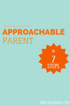 """Parents often prepare for """"the talk"""". However, the best way to raise sex-smart kids is to have them come to you first. How will they do that? If you're approachable. Here's how to become approachable."""