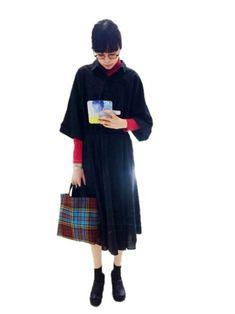 Kanocoさんの「ふわ太郎 無地 タートルネック長袖シャツ(LuncH)」を使ったコーディネート