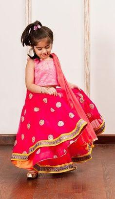 Girl in LAnga Blouse cute
