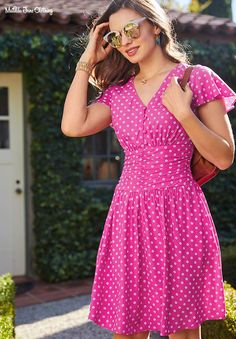 Some Moxie Dress - Matilda Jane Clothing Going Out Dresses, Cute Dresses, Frill Dress, Luxury Dress, Matilda Jane, Pink Outfits, Large Size Dresses, Swing Dress, Spring Summer Fashion
