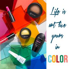 Life is art. Live it with colors! #makeup #powder #blush #eyeshadow #lipstick #foundation #nailenamel #flormar