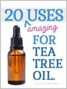 20 Uses for Tea Tree Oil - AMAZING list of clever and quirky ideas that you can incorporate this powerful essential oil in your daily routine! http://dearcrissy.com/20-uses-for-tea-tree-oil/?utm_content=buffer7eda0&utm_medium=social&utm_source=pinterest.com&utm_campaign=buffer#_a5y_p=4342258