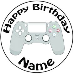 5th Birthday Cake, Birthday Ideas, Ps4 Cake, Buttercream Cake Decorating, Game Party, Fondant Icing, Ps4 Controller, Cake Ideas, Cake Toppers