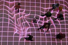 """Artist Sven Beyer created this interactive, LED footpath, Onskebronn (Norwegian for """"wishing well""""), for performance art collective Phase 7 in a Berlin train station. Real-time technology tracked people along their walk with moving patterns and images. Commuters created sounds when they exited the trains and stepped onto the platform."""