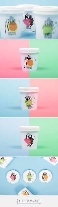 Lilly O Hanna's RAW! // Packaging design for RAW!, a Swedish rawfood ice'dream' brand.