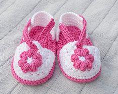 Crochet sandalias bebé sandalias de chica de por DaisyNeedleWorks