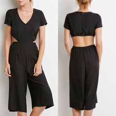 Cutout Jumpsuit Super Cute Cutout Jumpsuit. Fab dressed up with heels or down with cute sandals! Pants Jumpsuits & Rompers