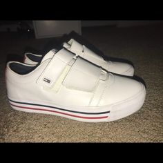size 40 d6631 94383 Tommy Hilfiger Shoes   White Tommy Hilfiger Velcro Shoes Size 6   Color   White   Size  6