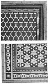 """Victorian decorating 4 victoriandecorati... """"Tiles for floors were still expensive, but heartily recommended for vestibules and entry halls because they could take the tough wear and tear. In order to meet the rising demand, many factories were opened in the US in order to produce tile for the domestic market. Tile was also advised for conservatories, porches, kitchens, l..."""