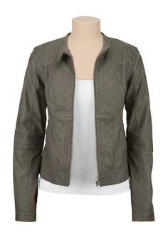 Snap Collar Moto Jacket - maurices.com