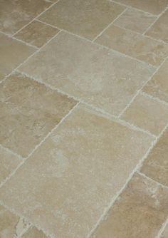 BuildDirect: Travertine Tile Antique Pattern Travertine Tile Denizli Beige click now for info. Bathroom Floor Tiles, Kitchen Tile, Kitchen Flooring, New Kitchen, Tile Floor, Stone Kitchen Floor, Kitchen Floor Tile Patterns, Beige Bathroom, Ikea Bathroom