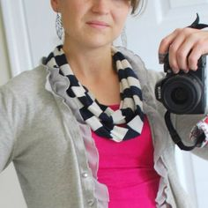DIY Infinity Scarf   –{Craftaholics Anonymous} from a T-shirt