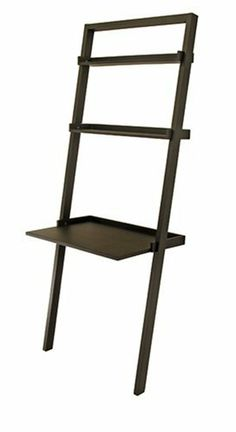 Desk with -2- Shelves Black Finish by TDM. $138.96. Product Dimensions: 30 in x 20 in x 75 in. Assembly Required: Yes. Finish: Black. Bailey Leaning Desk with Shelves. Desk with -2- Shelves Black Finish H 74.6 x W 30 x D 19.7