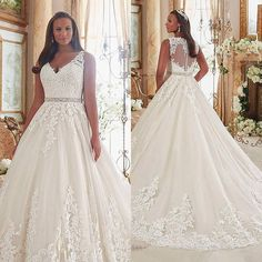 Wonderful Perfect Wedding Dress For The Bride Ideas. Ineffable Perfect Wedding Dress For The Bride Ideas. Wedding Gown Images, Plus Size Wedding Gowns, A Line Bridal Gowns, Bridal Dresses, Perfect Wedding Dress, Dream Wedding Dresses, Plus Size Brides, Modelos Plus Size, Wedding Dress Sleeves