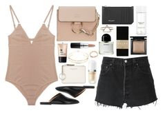 """Faye"" by breilachristou ❤ liked on Polyvore featuring The Nude Label, RE/DONE, Bare Escentuals, Charlotte Russe, Chloé, Marc Jacobs, All Tomorrow's Parties, H&M, Yves Saint Laurent and MAC Cosmetics"