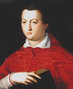 Cardinal Giovanni de' Medici. The middle of the Medici brothers. One of the youngest cardinals there was.