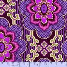 Fabrics coming in strong with the 2014 Color of the Year, Radiant Orchid.