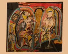 The fabulous collection exhibited in the House. Art Brut, Gallery, Painting, Collection, Roof Rack, Painting Art, Paintings, Painted Canvas, Drawings