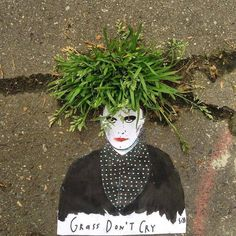 Sandrine Boulet, street art with the nature, 2016