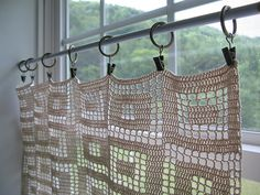 Fliet Crochet Curtain by vermontgirl, via Flickr