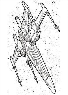 malvorlagen star wars, bild droid in einem raumschiff | coloring pages | ausmalbilder