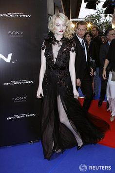 Emma Stone, Goth type dress.