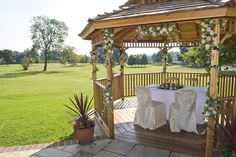 The Pavilion is a wonderful place for an outside wedding!