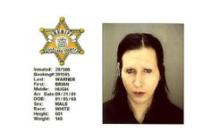 Brian Hugh Warner (aka Marilyn Manson) was charged with criminal sexual conduct after doing the grind on the head of a security guard during a July 2001 concert in suburban Detroit. The rock star pleaded no contest to a reduced misdemeanor charge, for which he paid a $4000 fine.