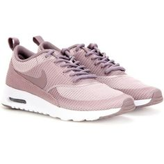 Nike Nike Air Max Thea Txt Sneakers (60.725 CLP) ❤ liked on Polyvore featuring shoes, sneakers, nike, footwear, purple, purple sneakers, nike footwear, nike trainers and nike sneakers