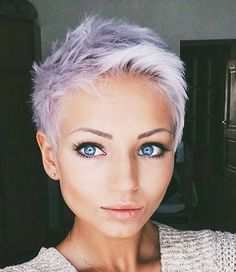 Such an adorable pixie. Love the color!