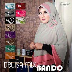Jilbab Khimar Syar'i Delisa Bando  http://bundaku.net/pakaian-wanita/jilbab/jilbab-khimar-syari-delisa-bando