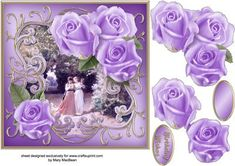 Roses in the Park Decoupage Card Front