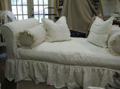 Burlap or Washed Linen Bolster Pillow SlipOne by cottageandcabin, $70.00