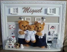 Família Miguel Bege e Azul Marinho