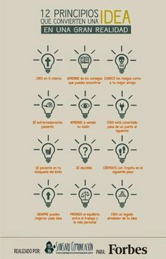 12 principios que convierten una idea en realidad on Aprender y educar curated by Maite SF