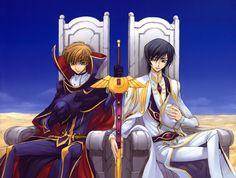 Anime 3949x2981 Code Geass Kururugi Suzaku Lamperouge Lelouch