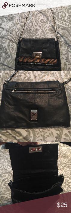 Beautiful Kardashian Kollection Animal print/leather satchel Kardashian Kollection Bags Crossbody Bags