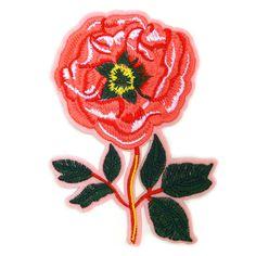 € 3,95 Patch - Strijkplaatje Bloem Roos roze