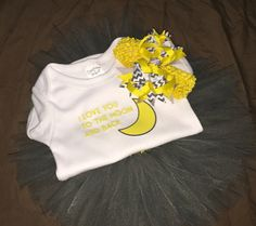 Love You To The Moon And Back Outfit by ShopEverythingTuTu on Etsy
